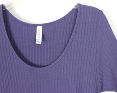 Cute Lularoe Purple Tunic Top Perfect Tee M L size Purple Stretch Womens Easy Wear Blouse