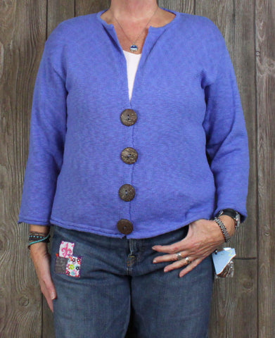Cute New Lulu B Cardigan Sweater L size Pretty Blue Work Casual Vacation