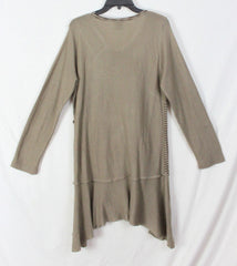 Cute Moka Sport XL size Tunic Sweater Dress Brown Beige Art to Wear