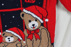 Nutcracker Ugly Christmas Sweater M size Bears Flying Sled - Jamies Closet - 4
