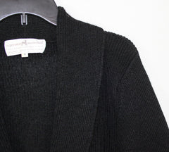 Soft Peruvian Connection Cardigan Sweater M size Black Alpaca Womens Career Casual