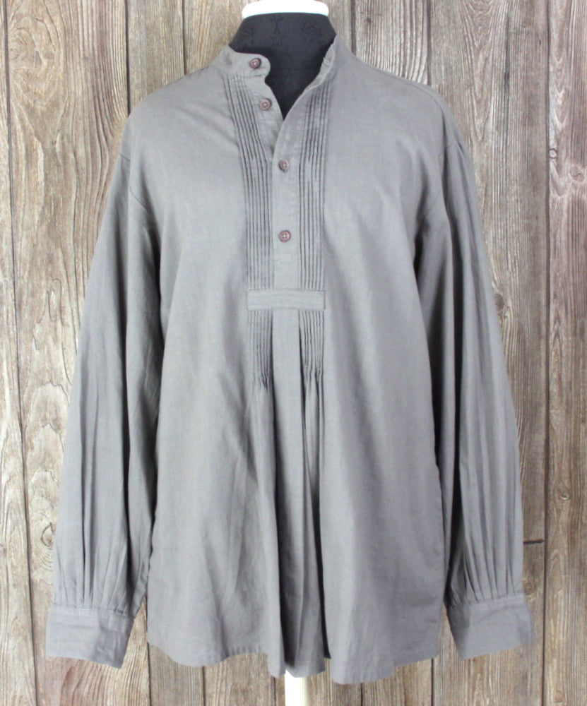 New J Peterman Blouse S Size Gray Taupe Pleated
