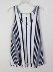 Cute Puella M size Blouse Blue White Aline