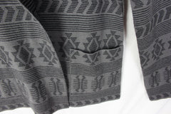 Adorable Tracy Reese Sweater Coat M size Alpaca Blnd Gray Black Southwest Womens Cardigan - Jamies Closet - 3