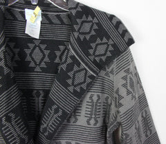 Adorable Tracy Reese Sweater Coat M size Alpaca Blnd Gray Black Southwest Womens Cardigan - Jamies Closet - 4