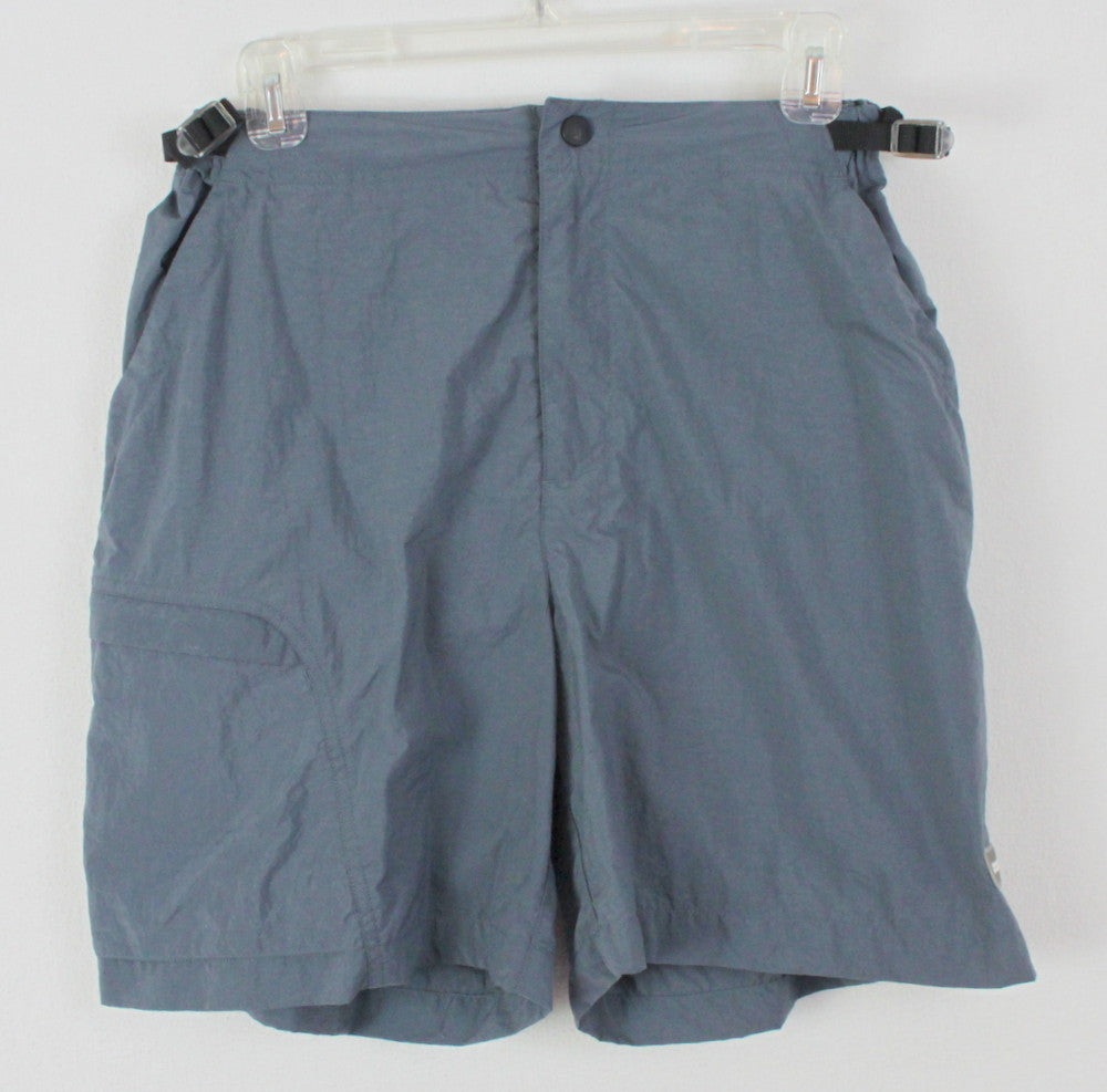 REI Shorts M size Womens Gray Nylon Lightweight Nice For Outdoors Summer - Jamies Closet - 1