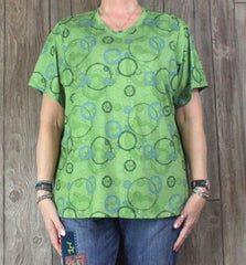 Nice REI top 2x size Womens Green Blue Gray Stretch Blouse Outdoor Casual Plus Shirt