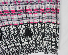 Cute Rose & Olive Blouse 1x size Pink Black Gray Tank Top