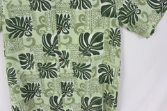 Cool Mens Hawaiian Shirt L size Royal Creations Hawaii Green Floral Aloha - Jamies Closet - 3