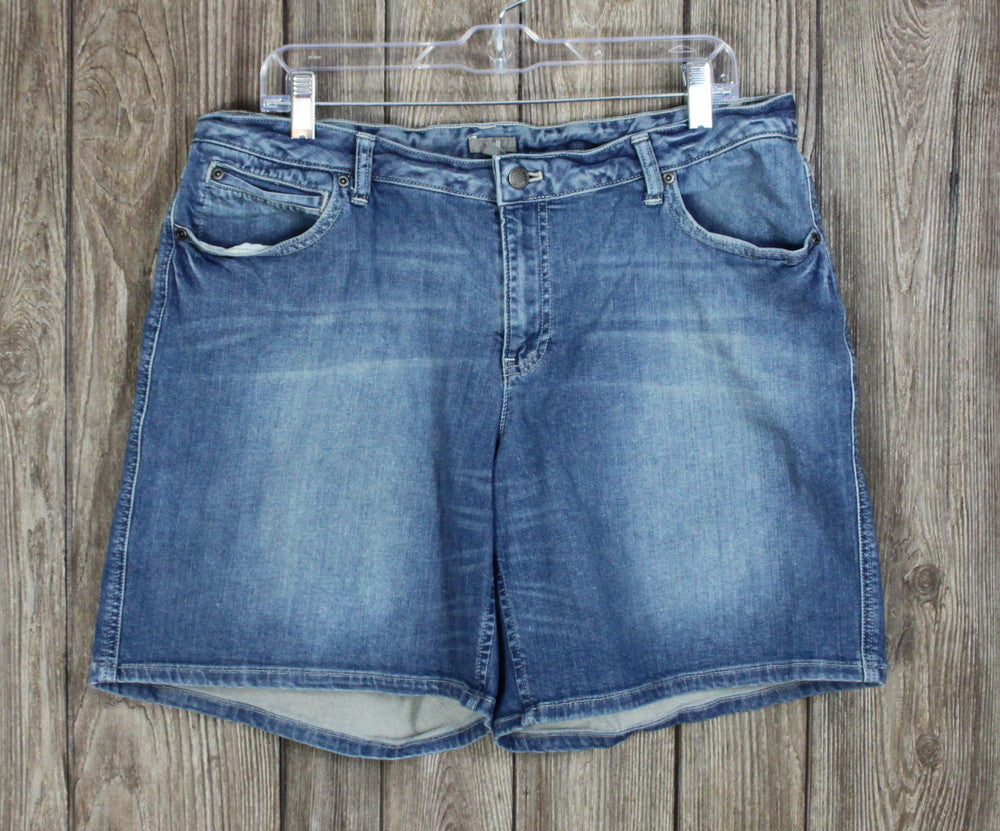 Cute J Jill 16 size Washed Denim Blue Shorts Womens Casual Jean Stretch