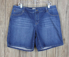 J Jill Womens Denim Boyfriend Shorts size 16 Stretch to fabric