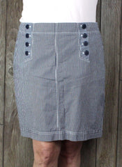 Cute New Talbots Skirt 16 petite 16p sz Blue White Sailor Beach Summer Womens