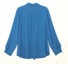 Talbots XL size Blouse Blue Work Casual Top