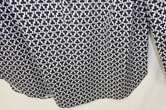 Cute Talbots Blouse 14 L size Black White Club Card Players Top