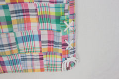 New Talbots Madras Patch Skirt 16P XL Petite sz Womens Pink Multi Color & Pockets