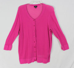 Nice Talbots Cardigan Sweater 2x size Pink Lightweight Open Knit