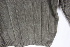Nice Mens Vneck Sweater M size Tommy Bahama Soft Plush Cotton Gray Career Casual