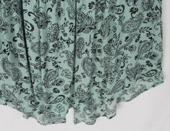 Cute New Torrid Top 1 1x size Blue Green Paisley Gauze Womens Plus Lightweight