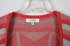 Umgee USA M L size Sweater Vest Pink Orange Gray Open Front Southwest Boho - Jamies Closet - 4