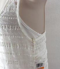 Cute St Tropez Macy's Voyage Mediterranee Dress S size New Ivory Net Lace Over Cami Stretch Summer - Jamies Closet - 4