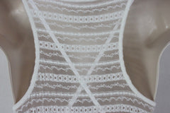 Cute St Tropez Macy's Voyage Mediterranee Dress S size New Ivory Net Lace Over Cami Stretch Summer - Jamies Closet - 7