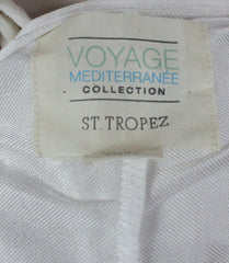 Cute St Tropez Macy's Voyage Mediterranee Dress S size New Ivory Net Lace Over Cami Stretch Summer - Jamies Closet - 12
