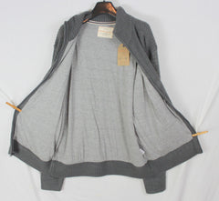 New Weatherproof Cotton Lined Cardigan Sweater XL size Mens Gray Zip Front Heavy