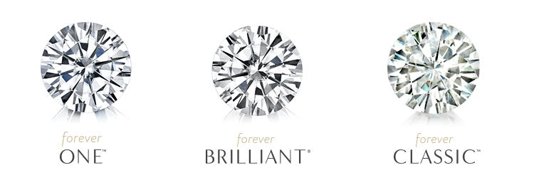 Forever Brilliant Forever One Moissanite stone comparison