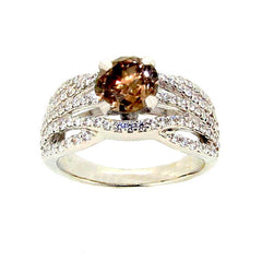 SALE! Diamond Engagement Ring with 1 Carat Chocolate Brown Diamond, Anniversary Ring - BD85049