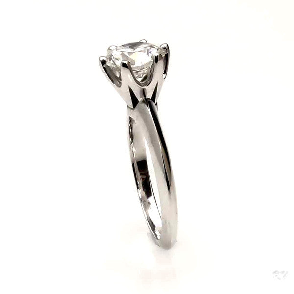 Moissanite Engagement Ring, 2 Carat Brilliant Cut Forever One Moissanite Anniversary Ring - FOAD26304L