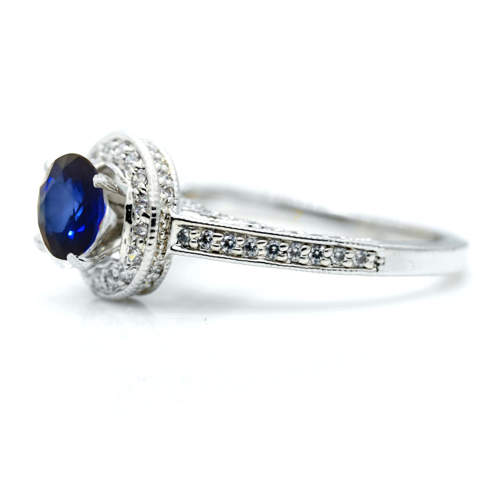 white blue diamond ring sapphire double gold natural store carat halo