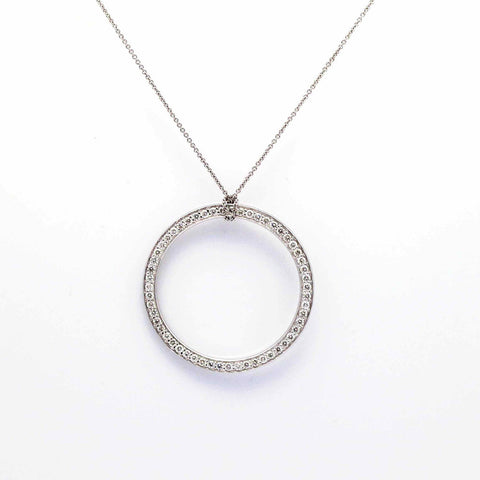 "14k Gold 32"" In Diameter Circle Of Life Diamond Pendant - COL32DP"