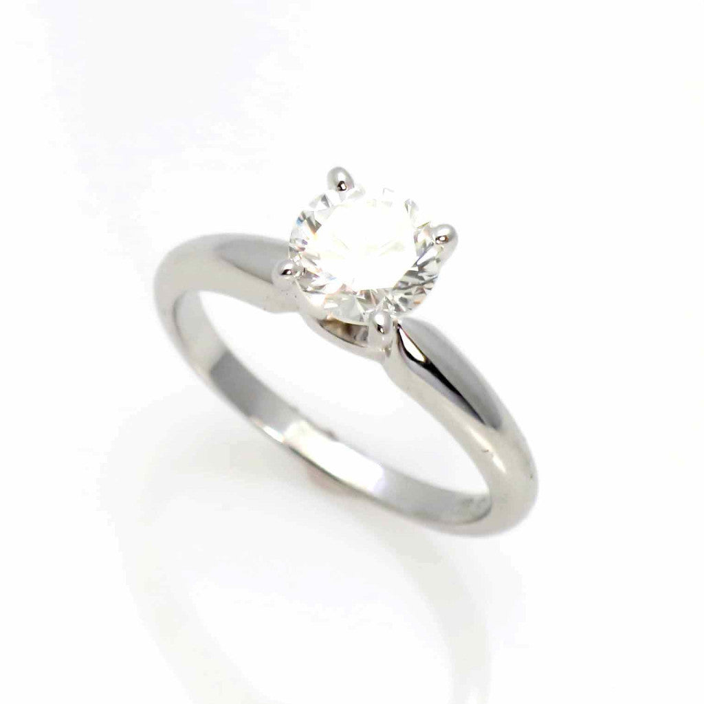 14k Gold, 1 Carat Forever One Moissanite Engagement Ring - UFBENR8979