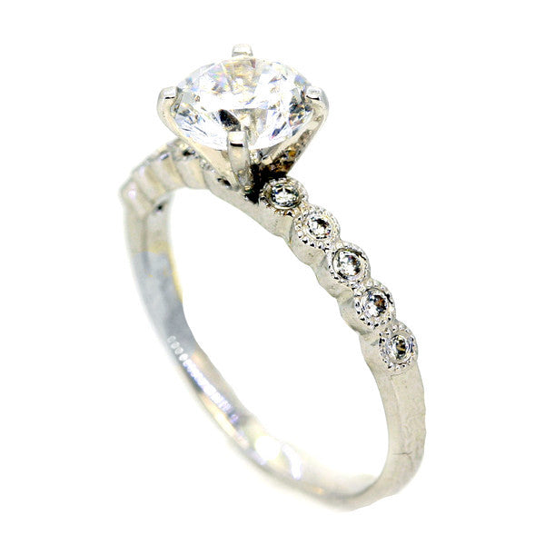 .75 Carat GIA Certified Hand Carved, Diamond Engagement Ring,14k White Gold, Rose Gold,Yellow Gold,18k Gold,Platinum - WD73081ER