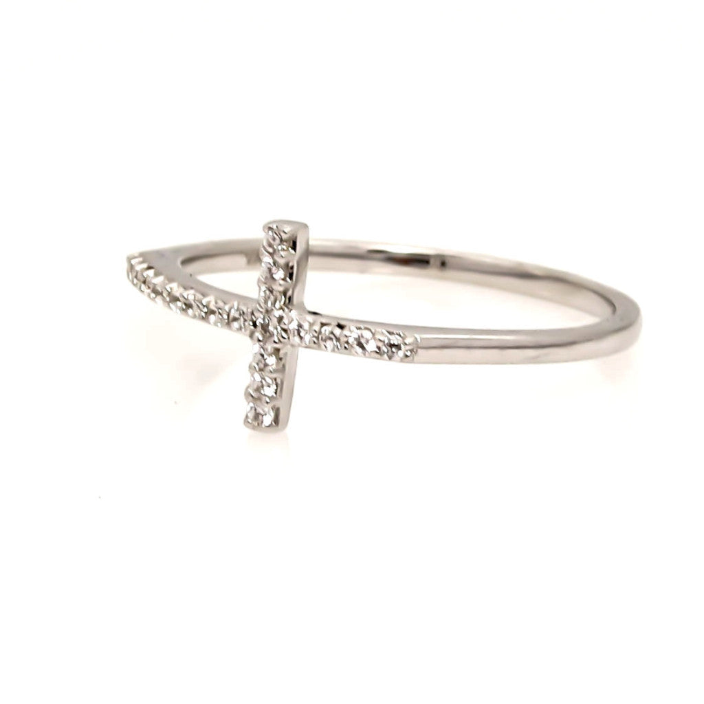 Cross Diamond Band,  Cocktail Ring - Y11668