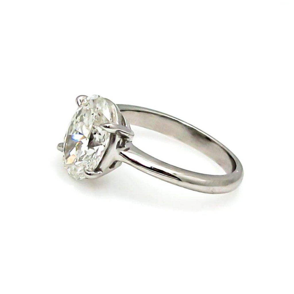 Unique 2 Carat Oval Forever One Moissanite Engagement Ring - F1JRSR700