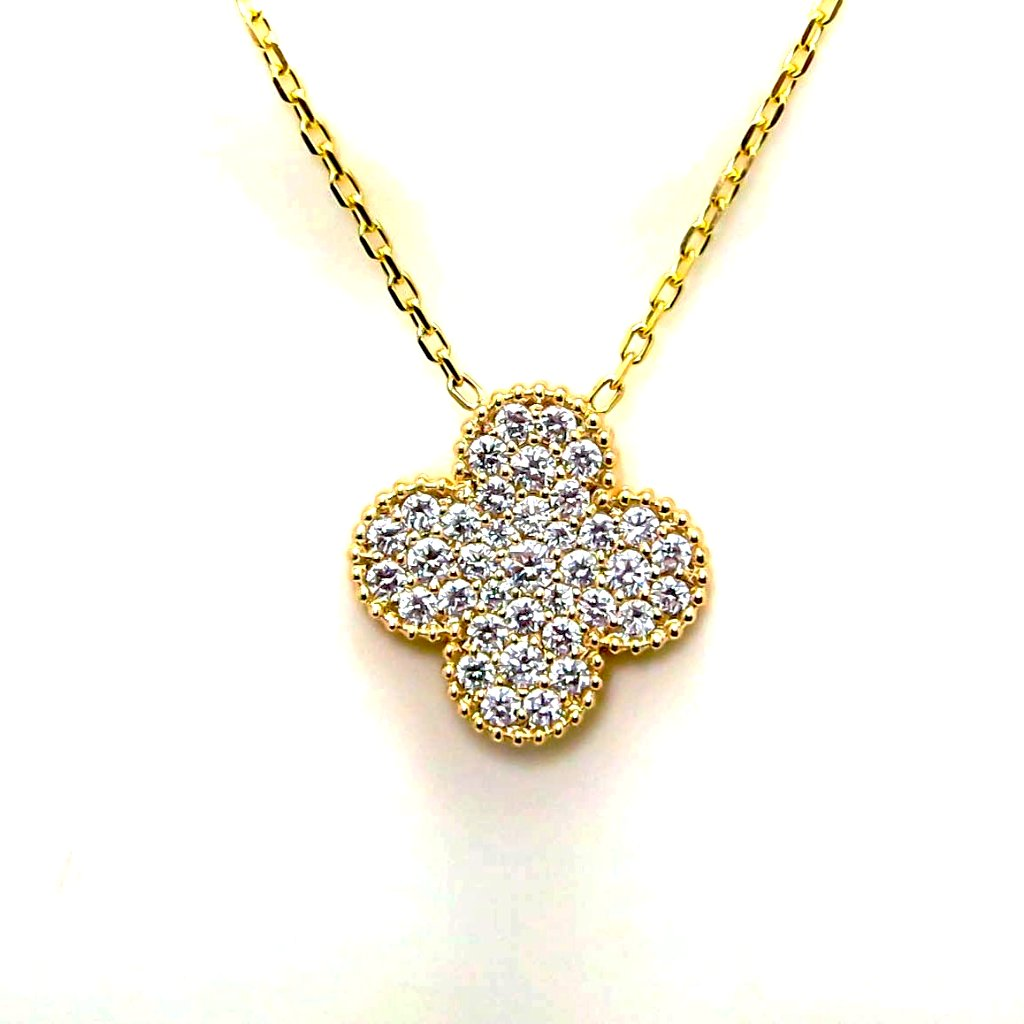 2 Carat total Diamond Clover Pendant