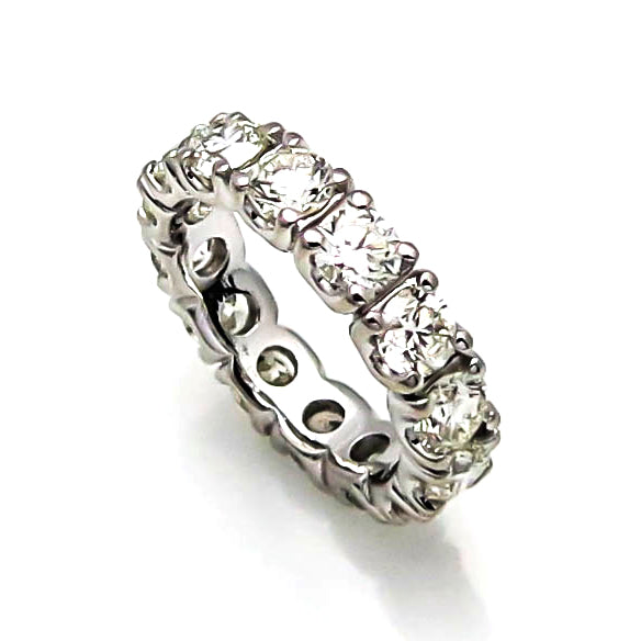 Moissanite Eternity Ring, Wedding Band - NEO25WB