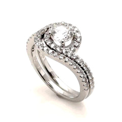 Semi Mount For 1 Carat Center Stone Unique Engagement/Wedding Set, with .66 Carat Diamonds, Anniversary Ring - Y11354
