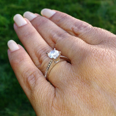 1 Carat Forever Brilliant Moissanite Engagement / Wedding Set, With .30 Carat Diamonds, Anniversary Ring Set - FB69781