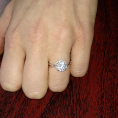 Diamond Engagement Ring, Unique Halo Design With .75 Carat GIA Certified Diamond Center Stone & .17 Carat Diamonds Accent Stones, Anniversary Ring - WDY11657