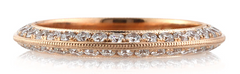 Special Order For Cherie: Diamond Wedding Band,14k Rose Gold With White Diamonds