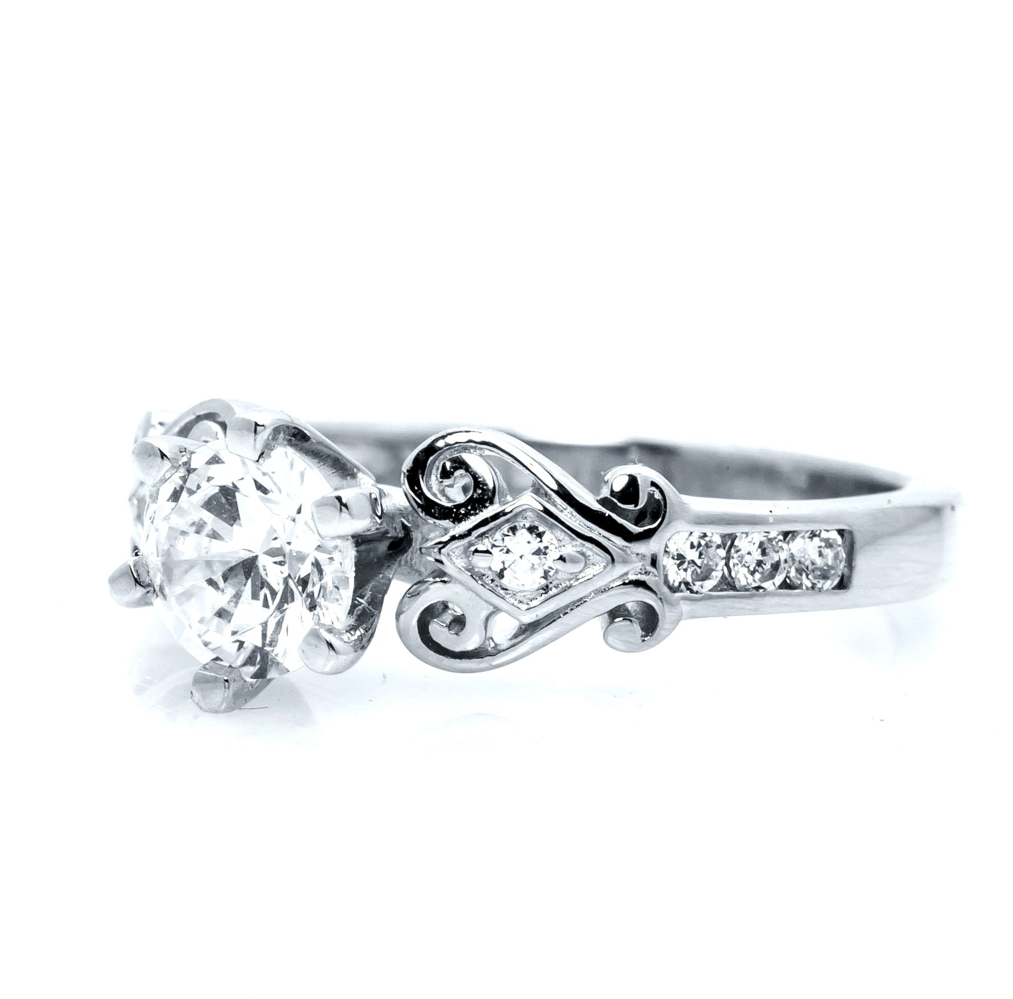 encrusted diamond set engagement in pave rings cut princess gia tw bridal white gold ct certified products