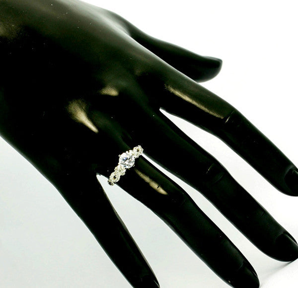 Semi Mount Engagement Ring,  Unique For 1 Carat Center Stone, Solitaire, Infinity Shank, Anniversary Ring - Y11613