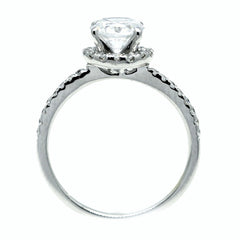 Moissanite Engagement Ring, Unique Floating Halo With 1.25 Carat Forever One Moissanite & .30 Carat Diamonds, Anniversary Ring - FB85031
