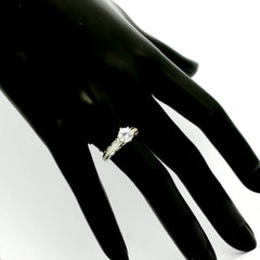 Semi Mount Engagement Ring, Unique Solitaire For 1 Carat Center Stone Has .25 Carat Diamonds, Anniversary Ring - Y11615