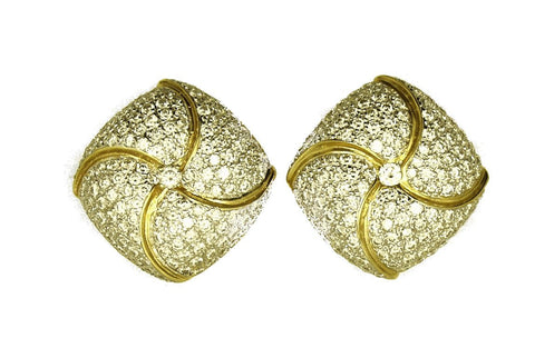 Diamond & 18K Gold Earrings