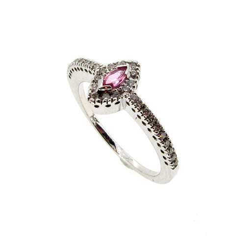 SALE! Marquise Pink Sapphire & Diamond Engagement Ring, Gemstone Engagement, Anniversary Ring, Cocktail Ring,  Alternative Engagement Ring