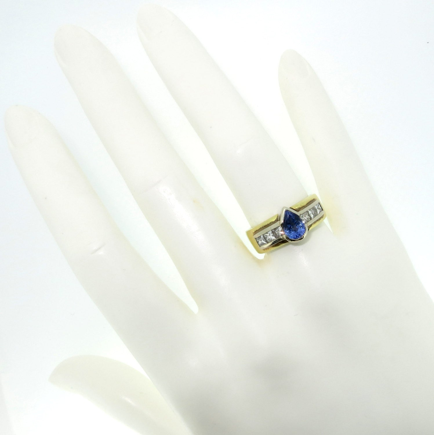 Tanzanite Gemstone & Diamond Engagement Ring, Alternative Engagement, Gemstone Engagement, Cocktail Ring