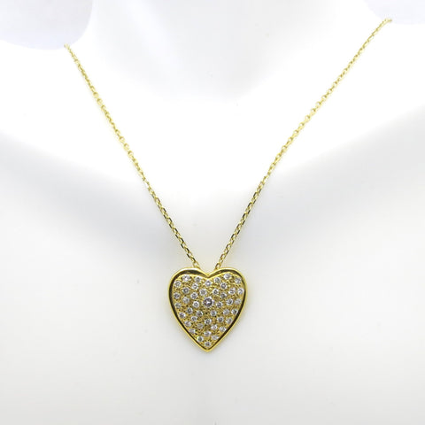 Diamond Heart Necklace/Pendant, 14K Yellow Gold